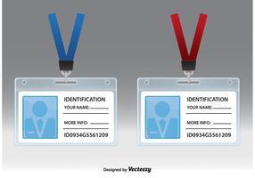 Vetores de cartão de identificação