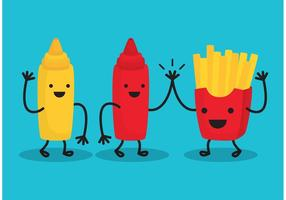 Fries and Friends vetor
