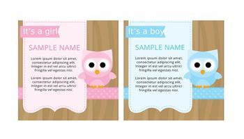Cartões bonitos da festa do bebé vetor