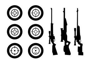 Coleção da silhueta da arma vetor