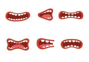 Vetores de fala de boca livre
