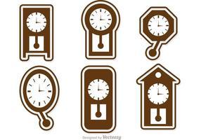 Pacote de vetores de ícones de relógio de parede