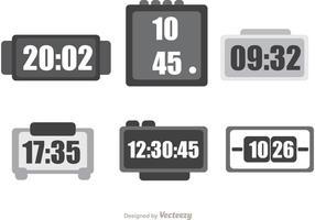 Pacote de vetores de relógio de mesa digital