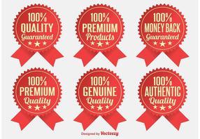 Emblemas de qualidade Premium vetor