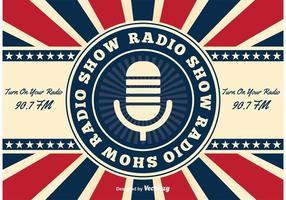 Fundo retro da mostra de rádio americana vetor