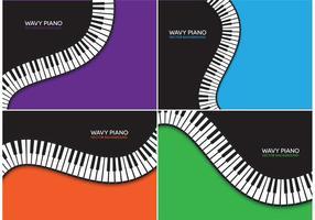 Fundos de vetor de piano ondulado grátis