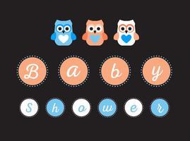 Vector de sinal de festa do bebê