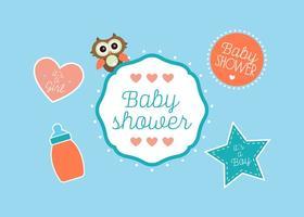 Vetores de chuveiro de bebê
