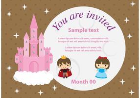 Cartão da princesa Castelo vetor