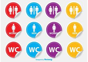 Etiquetas de Restroom / WC vetor