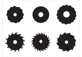 Lâminas circulares de serra circular vetor