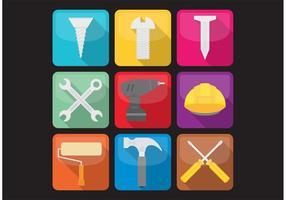 Ícones de ferramentas vetor
