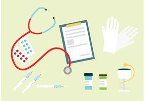 Objetos de Medicina vetor