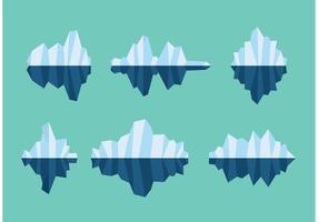 Vetores de icebergs flutuantes