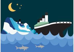 Papel de Parede Titanic e Iceberg vetor