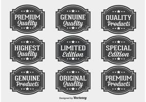 Conjunto de etiquetas de qualidade premium vetor