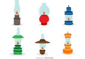 Conjunto de lâmpadas de gás vetor