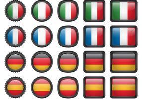Ícones da bandeira europeia vetor