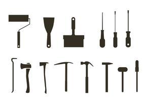Vetores grátis da silhueta da ferramenta
