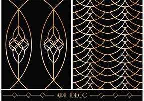 Padrões vetoriais geométricos gratuitos Art Deco vetor