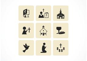 Ícones de vetores cristãos gratuitos