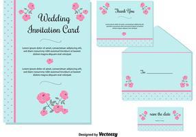 Cartões de convite de casamento vetor