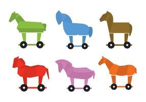 Coleção Trojan Horse vetor