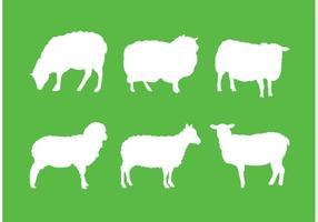 Silhueta de ovelha vetor
