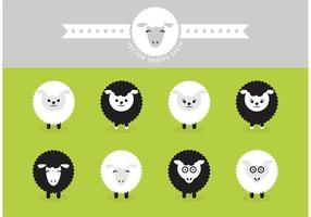 Ícones de vetores isolados de carneiros grátis