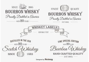 Etiqueta / insígnias de whisky