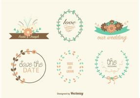 Grinaldas desenhadas a mão do casamento vetor
