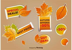 Tags do negócio do outono vetor