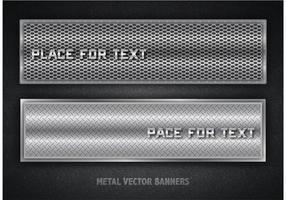 Banners de metal vetoriais gratuitos