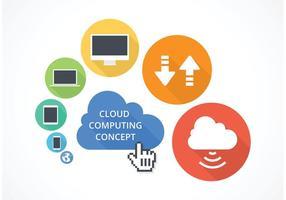 Conceito de computação em nuvem de vetor livre