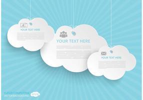 Vector de conceito de computação em nuvem livre