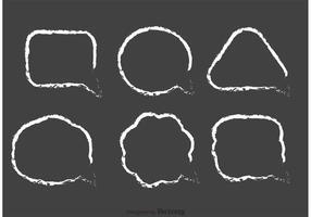 Pacote de vetores de bolhas de fala desenhada por giz