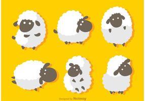 Vetor engraçado das ovelhas