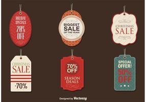 Tags da temporada de venda vetor