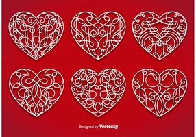 Vetores ornamentais do coração