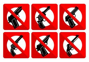 Sem sinais de armas vetor