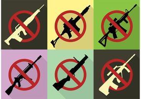 Sem sinais de armas de fogo vetor