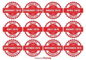 Medalhas de meses do ano vetor