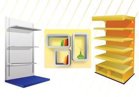 Vetores de prateleiras 3D