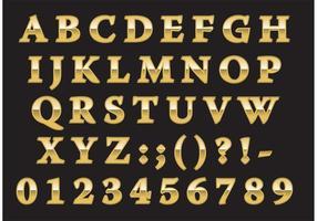 Tipo romano dourado vetor