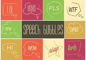 Conjunto de bolhas de fala livre vetor