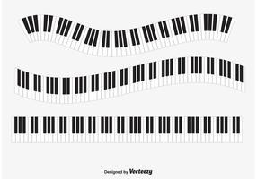 `Vetor de teclas de piano vetor