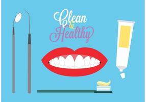 Contexto do tema dental vetor