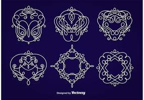 Emblemas Ornamentos vetor