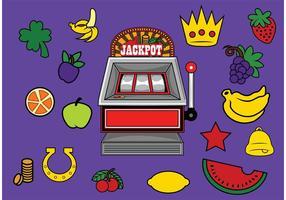 Slot Machine com prêmios vetor