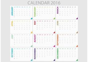 Planejador diário 2016 vetor